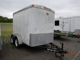 CARRY-ON ENCLOSED CARGO TRAILER,  6' X 10', TANDEM AXLE, ELECTRIC BRAKES, S