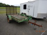 SHOPBUILT UTILITY TRAILER,  5' X 10', SINGLE AXLE, RAMP TAILGATE S# N/A, NO