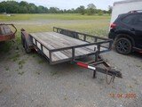 2011 DAKOTA UTILITY TRAILER,  16' , BUMPER PULL, TANDEM AXLE, ANGLE IRON TO