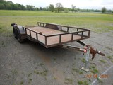 2002 BIG-ARC UTILITY TRAILER,  16', TANDEM AXLE, SINGLE TIRE, S# N/A C# 726