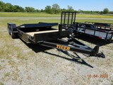 2020 TIGER 8320T7K TILT DECK EQUIPMENT TRAILER,  BUMPER PULL, 20' OVERALL,