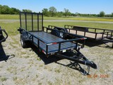 2019 STINGRAY 5' X 12' UTILITY TRAILER,  SINGLE AXLE, RAMP TAILGATE, S# 1D9