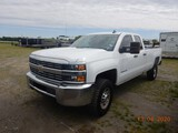 2017 CHEVROLET 2500 HD PICKUP TRUCK, 111K+ MILES  QUAD CAB, 4X4, V8 GAS, AT