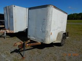 1994 FRUEHAUF ENCLOSED CARGO TRAILER,  5'X8', SINGL4E AXLE, BALL HITCH S# 8