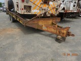 1988 BELSHE T-9 PINTLE HITCH EQUIPMENT TRAILER,  20,000 LB, TANDEM AXLE, DU