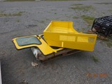 PALLET WITH HOOD, DOOR AND MISC. PARTS FOR COMBI FORKLIFT
