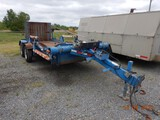 2004 LIFE TIME HYDRAULIC LOWER TRAILER,  PINTLE HITCH, TANDEM AXLE S# FE602