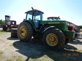 JOHN DEERE 4960 WHEEL TRACTOR, 1457 HRS  MFWD, CAB, AC, 3 POINT, PTO, REMOT