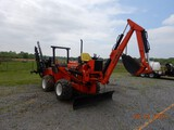 DITCH WITCH R65 COMBO PLOW/TRENCHER, 1329 HRS  DIRT CHAIN, BACKHOE, MISSING