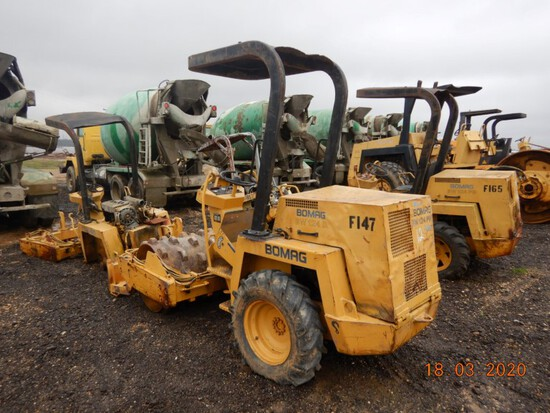 BOMAG BW124 ROLLER, S# A219C2040V C# F-147, UNVERIFIED MILES & HOURS WILL N