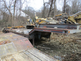1990 INTERSTATE 50LBG LOWBOY TRAILER,  TANDEM AXLE, DOVETAIL, RAMPS S# 6021