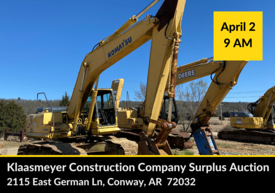 POSTPONED -KLAASMEYER CONSTRUCTION COMPANY AUCTION