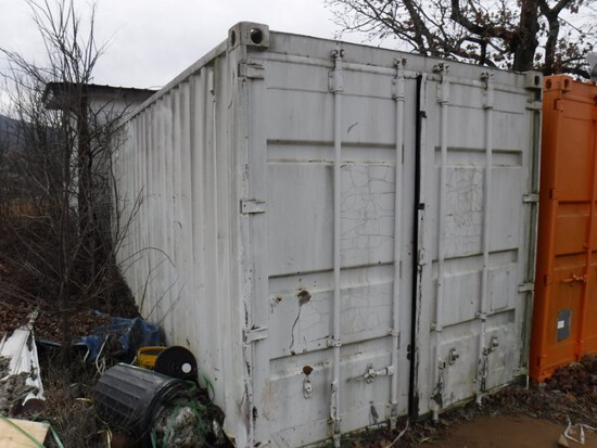 20' Steel Storage Container – White – BUYER picks up at the quarry at 23179