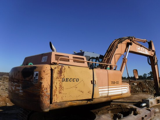 Case 9040B Excavator/Hammer Hoe, 9,222 Hours on 9040, Cab, Aux Hydraulics,