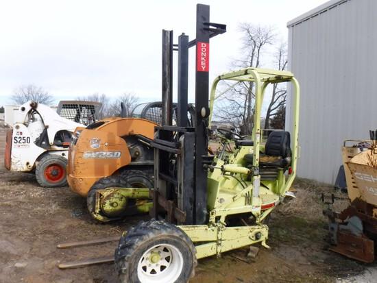 Donkey M13-5K Piggy Back Forklift, 5,000lb Capacity, 3-Wheel, S#IED