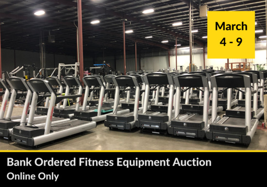 BANK ORDERED FITNESS EQUIPMENT AUCTION
