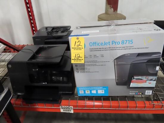 LOT OF DELL OFFICE JET PRINTERS,  2 OFFICEJET PRO 8715 INK JET PRINTERS (ON