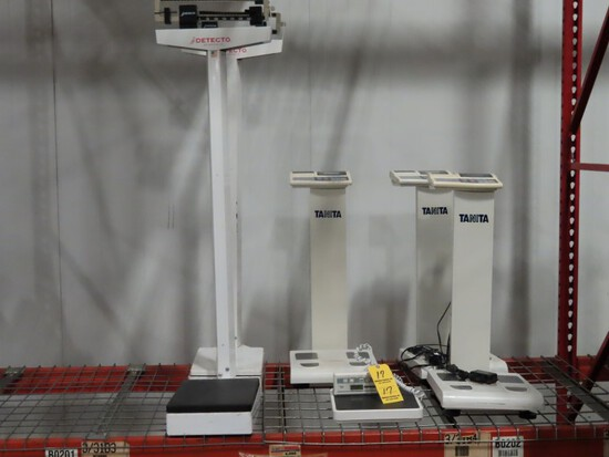 LOT OF WEIGHT SCALES,  1 HEALTH O' METER PROFESSIONAL, 400 LB./ 180 KG. CAP