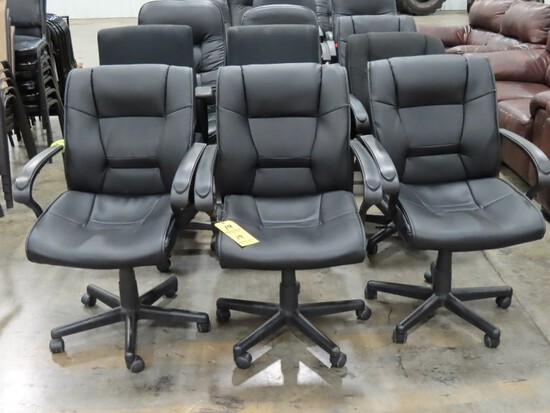 LOT OF (9) ROLLING OFFICE DESK CHAIRS