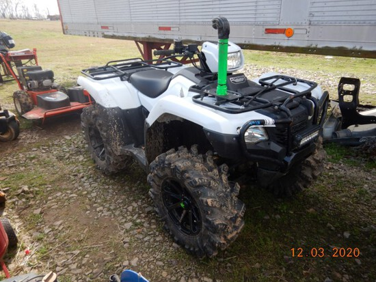 2017 HONDA FOREMAN 500 ATV, 1,977+ MI,  4X4,
