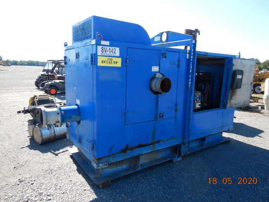 """THOMPSON PUMPS SILENT KNIGHT WATER PUMP, 4817 HRS  SKID MOUNTED, 8"""", 4 CYLI"""