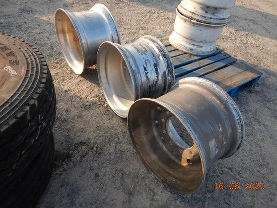 (3) 22.5 ALUMINUM WHEELS  (LOCATED AT BLACKMON YARD, 425 BLACKMON ROAD, LON
