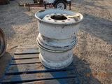 (2) 22.5 STEEL WHEELS  (LOCATED AT BLACKMON YARD, 425 BLACKMON ROAD, LONOKE