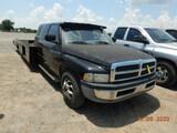 1998 DODGE 3500 CAR HAULER TRUCK, 181K+ MILES  QUAD CAB, V10 GAS, 5 SPEED,