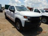 2019 CHEVROLET SILVERADO PICKUP TRUCK, 6,945 MILES  QUAD CAB, V8 GAS, AT, P