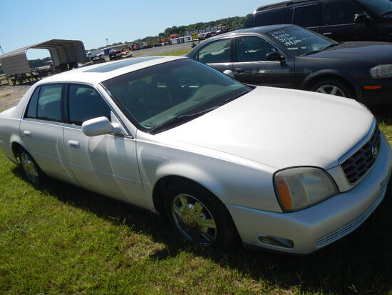 2003 CADILLAC DEVILLE CAR,  4-DOOR, GAS, AUTOMATIC, PS, AC S# 266670 AS-IS,