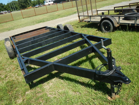 TRAILER FRAME,  16', TANDEM AXLE, SINGLE TIRE S# N/A,  AS-IS, CONDITION UNK