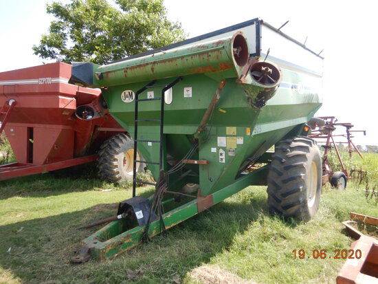 J & M 525-14 GRAIN CART,  24.5-32 TIRES, LOCATION: ALTHEIMER, AR