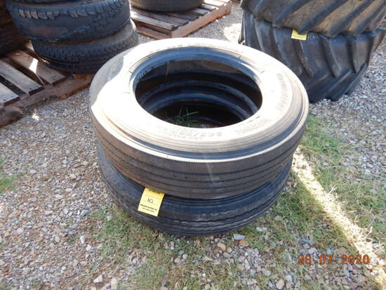 (2) MISCELLANEOUS R22.5 TIRES