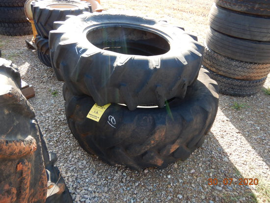 (1) 12.4-24 TIRE AND (1) 19.5L-24 TIRE