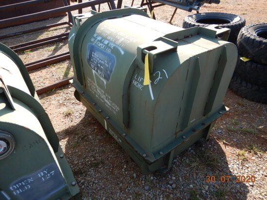METAL MILITARY ENGINE SHIPPING BOX