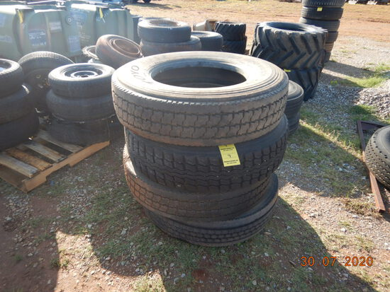 (4) MISCELLANEOUS R22.5 TIRES