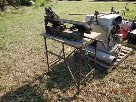 AMERICAN METAL CUTTING BANDSAW  ON SHOP TABLE