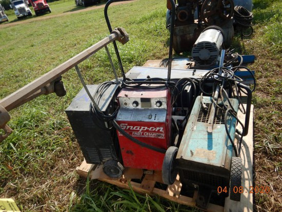 (3) BATTERY CHARGERS AND (1) AC RECOVERY UNIT