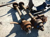 (2) DEXTER TRAILER AXLES,  10,000-LB, ELECTRIC BRAKES ON BOTH AXLES, COMPLE