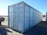 SHIPPING CONTAINER,  40', HIGH CUBE, (4) DUAL DOOR SIDE OPENINGS, (1) DUAL