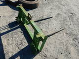HAY SPEAR,  TWIN TINE, WITH JOHN DEERE QUICK ATTACH, NEW / UNUSED