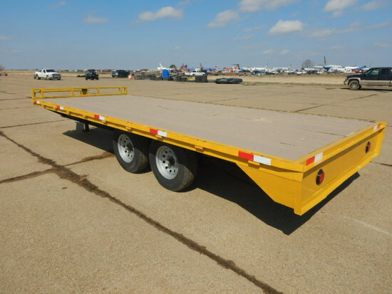 HOMEMADE TRAILER  20FT LONG, 8FT WIDE, HEAVY DUTY, ELECTRIC BRAKE, 35/80-16