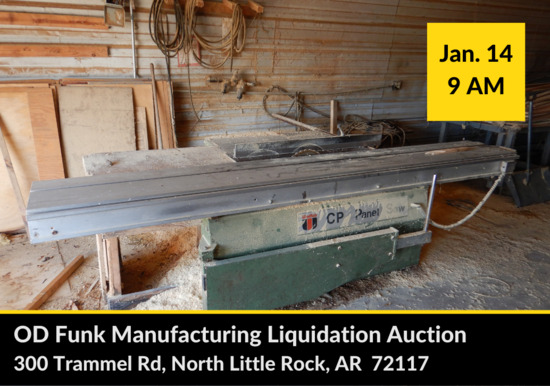 OD Funk Manufacturing Liquidation Auction