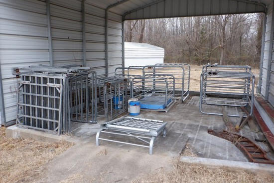LOT WITH AIR CONDITIONER CAGE ENCLOSURES  (LOCATED UNDER METAL SHED)