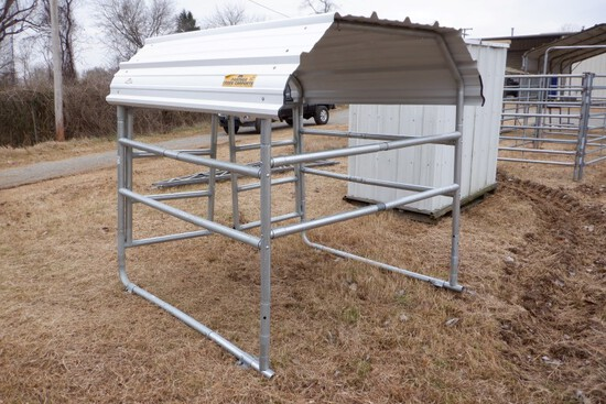 PORTABLE SHED,  6' X 6', WITH GATES