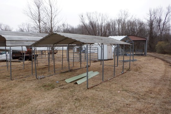 PORTABLE CARPORT,  12' X 20', ROOF ONLY