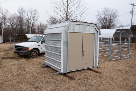 ENCLOSED SHED,  7' X 6', ON SKID