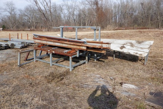 ROLLER TABLE, I-BEAMS, RACKS,  AND MISCELLANEOUS