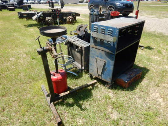TOOLBOX, PORTA-COOL, STOOL, OIL CATCH PAN, ENGINE STAND