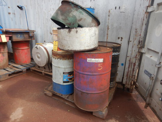 PALLET WITH UNKNOWN OIL & FUEL PRODUCTS